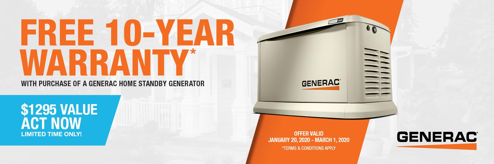 Homestandby Generator Deal | Warranty Offer | Generac Dealer | Toronto, ON